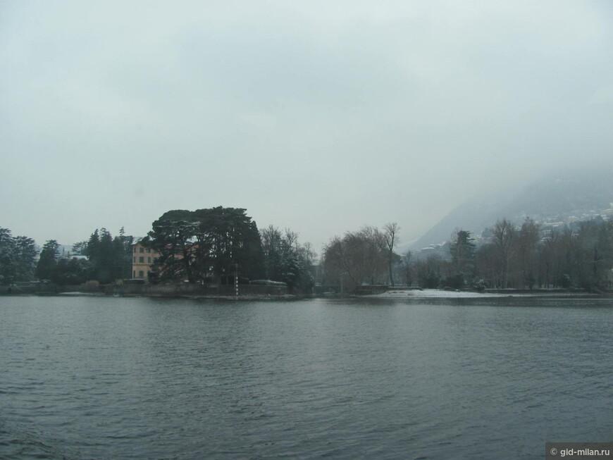 Зима на озере Комо