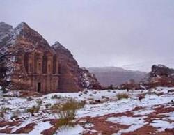 В Петре впервые выпал снег
