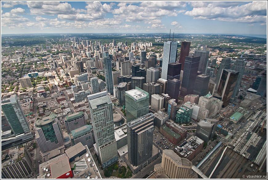 Торонто. Вид с CN Tower