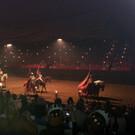 Рыцарский турнир в средневековом замке и фламенко