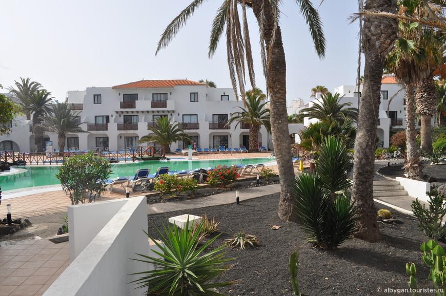 Гостиница в Коральехо, на самом севере острова.
