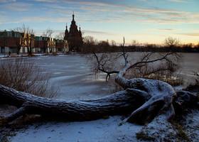 Зимний Петергоф и Петербург