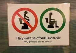 Финны научат российских туристов правильно пользоваться унитазом