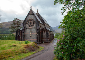 Storm in Glenfinnan (Scotland)