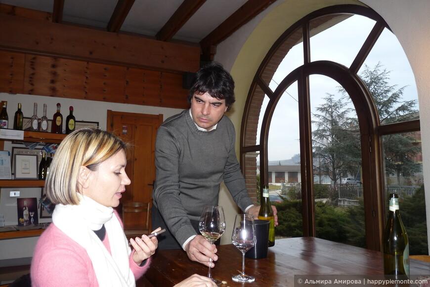 С владельцем винного хозяйства