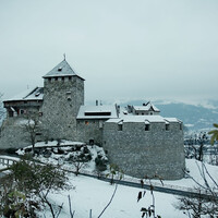 Замок Вадуц (нем. Schloss Vaduz) — замок в Лихтенштейне, официальная резиденция князя (вид сверху)