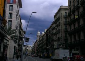 Дождик. Барселона прекрасна