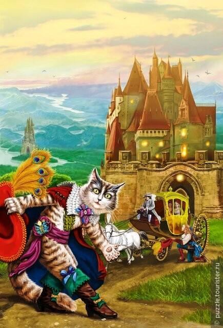 кот в сапогах в замке людоеда картинки