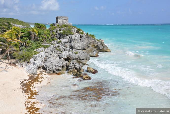Знаменитые тулумские пляжи с фантастической водой