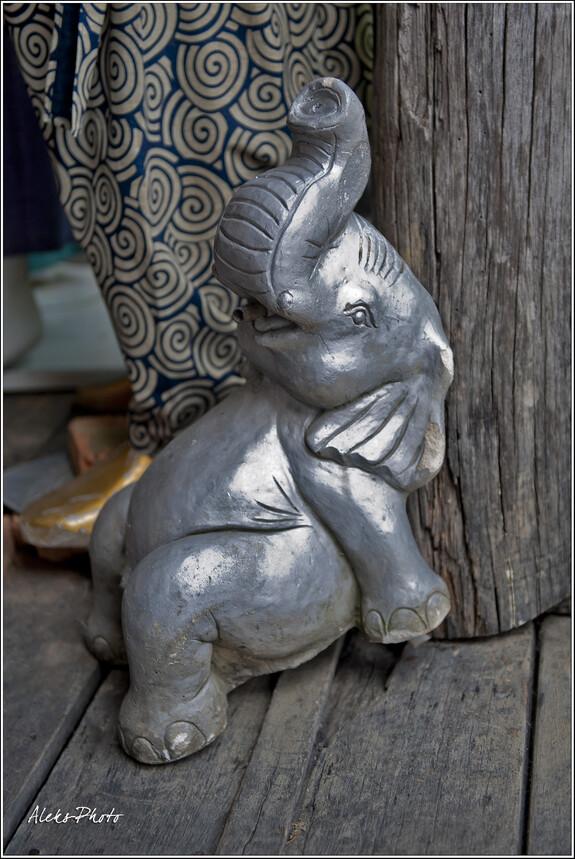 Слоны - настоящий символ Таиланда. Они здесь всюду...