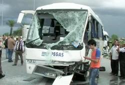 Более десятка россиян пострадали в аварии под турецким Сиде