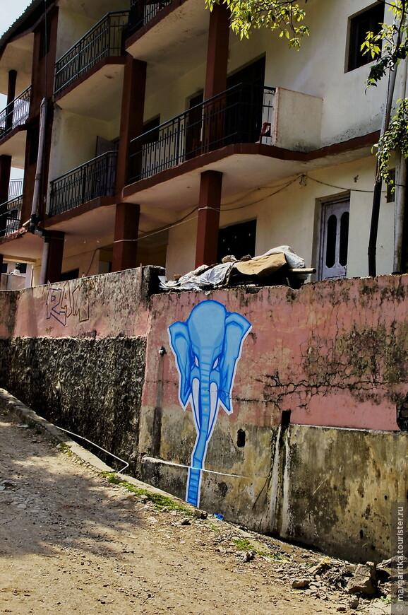 малюсенькая деревенька всего из пары улиц, где дома вот так вот забавно украшены