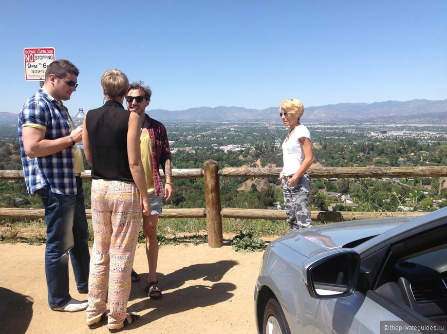 Голливудские Холмы, вид на Лос Анджелес