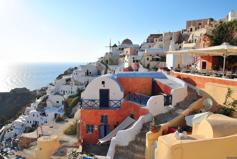 фото деревни ия в греции остров санторини быть