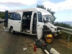 При аварии автобуса в Крыму пострадали 11 российских туристов