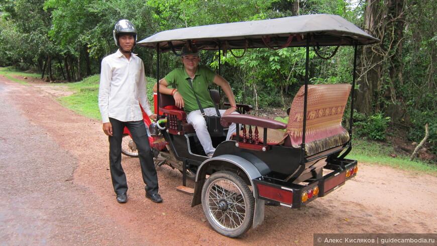 Тук тук - лучший транспорт для передвижения по Ангкору