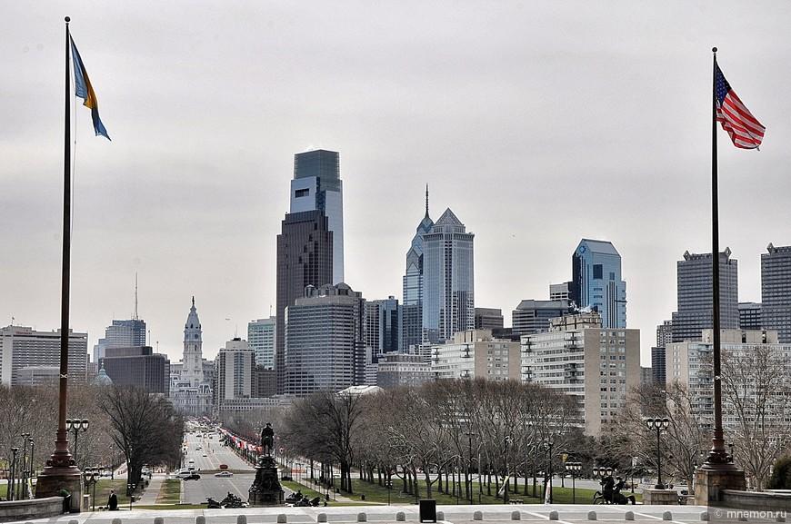 Вид на downtown со стороны музея искусств