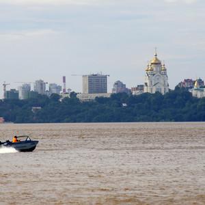 Хабаровск, уровень Амура 720см