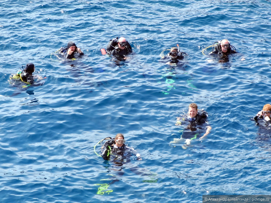 Плавать можно с аквалангом.