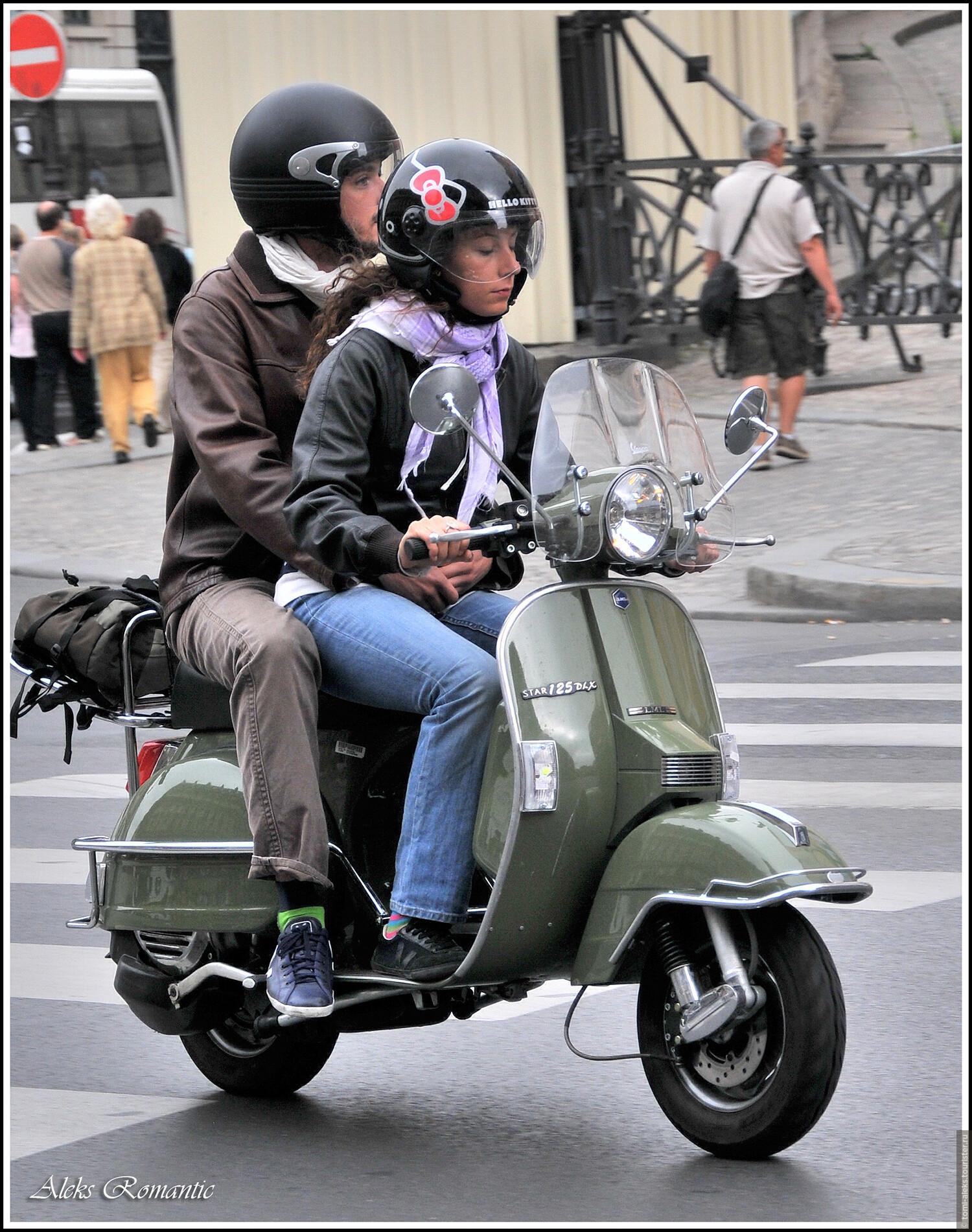Любимое средство передвижения парижан..., Кто был в Париже, тот навек влюблен(Франция)