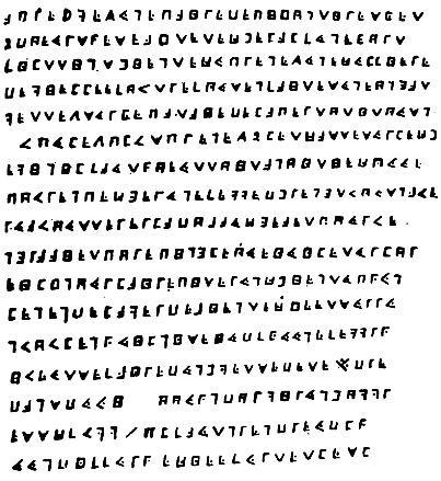 Зашифрованный текст с описанием места, где зарыт клад Ля Буза