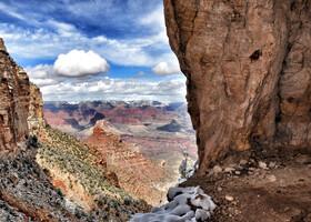 Гранд Каньон в снегу. Grand Canyon in Snow