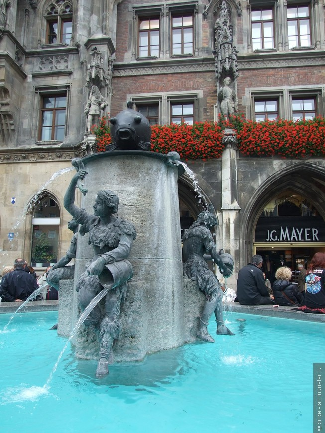 Рыбный фонтан. Мюнхен.