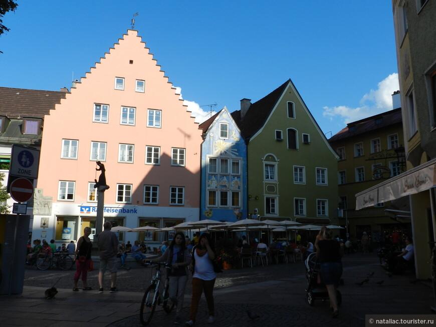 Площадь в старом Фюссене.