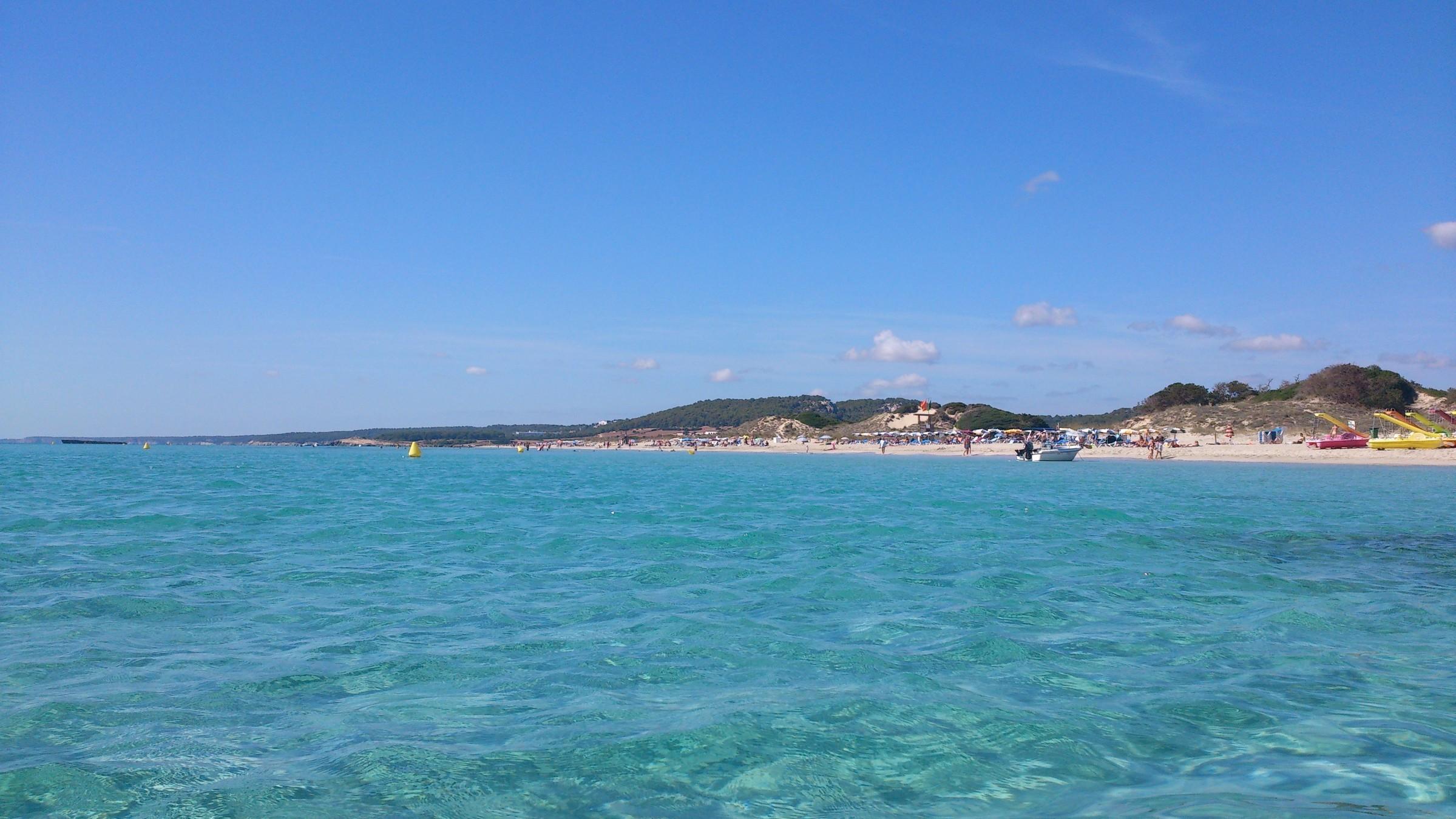 пляж сон боу, Менорка