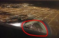 Над Чикаго у самолета отвалилась часть обшивки