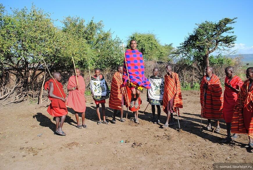 Танцы масайских мужчин