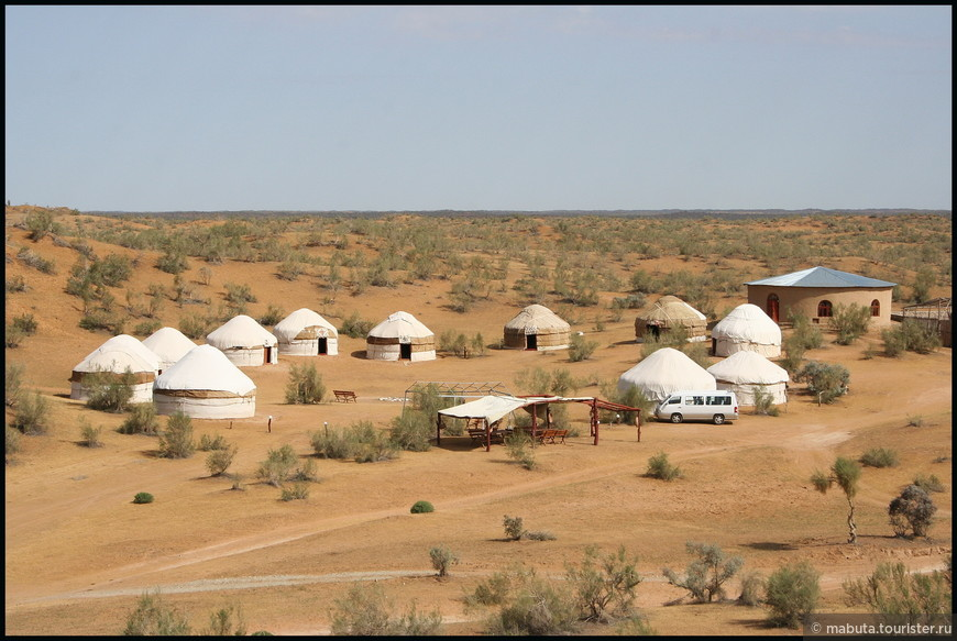 Юртовый лагерь в пустыне Кызылкум