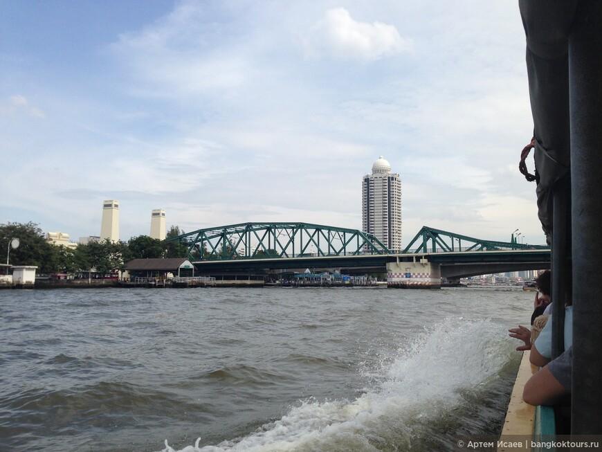 Мост Рамы I, р. Чаопрайя, г. Бангкок, Королевство Таиланд.