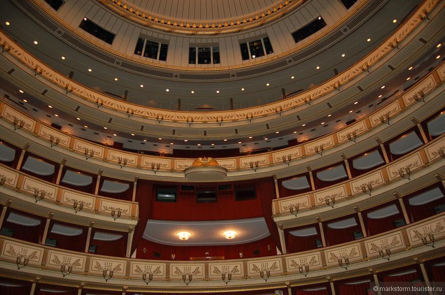Зал Венской Оперы...Масштабы впечатляют.