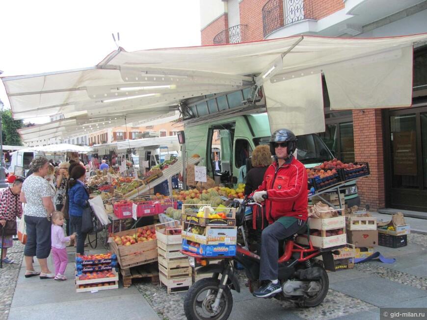 В Варалло рыночный день. Отправить итальянского мужа за покупками совсем не сложно, если речь идёт о национальной святыне - хорошей еде.