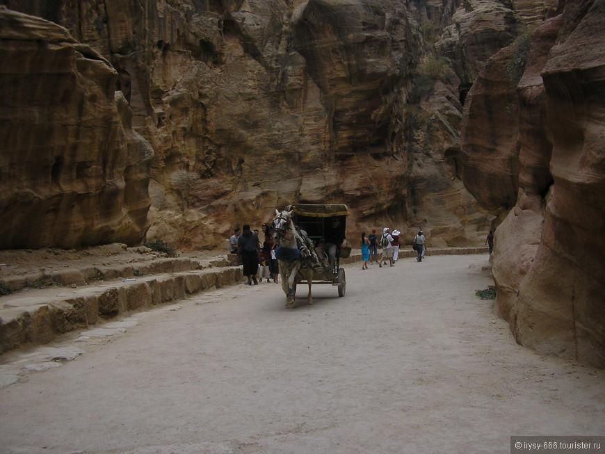 Древние развалины Петры запрятаны глубоко в песчаных горах неподалеку от города Вади-Муса (Долина Моисея).