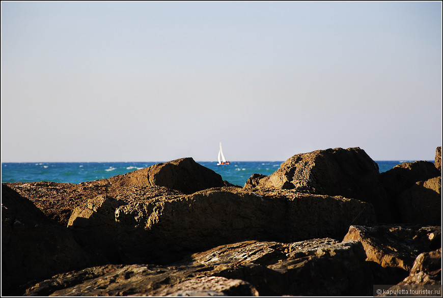 На берегу Средиземного моря расположены  и Герцелия, Тель-Авив, Хайфа, Ашкелон, Ашдод.