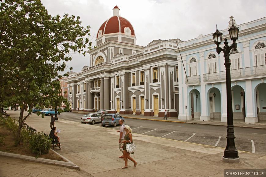 Сьенфуэгос. Его историческая часть с европейской архитектурой. Французская колония