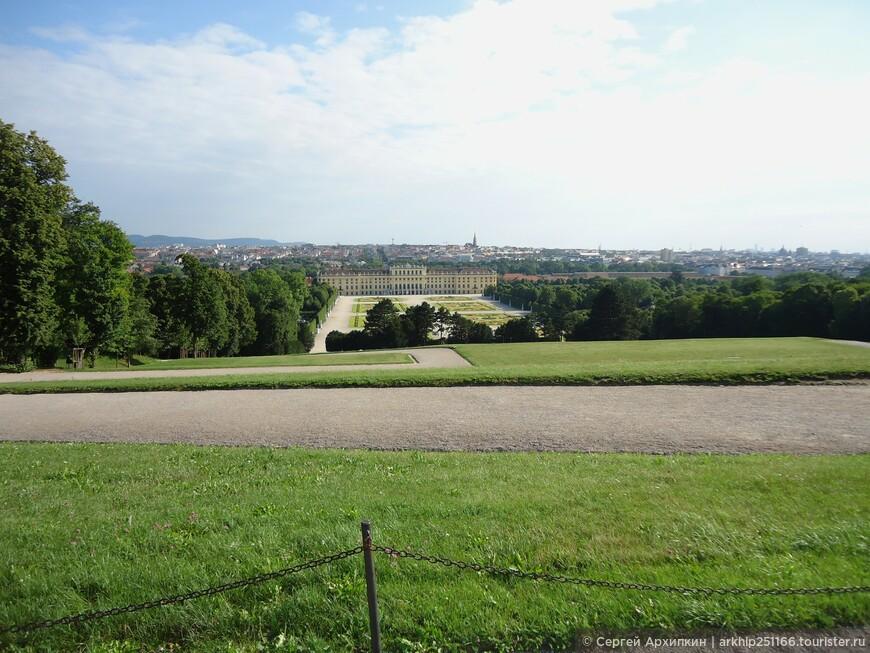Вид на дворец Шенбурн