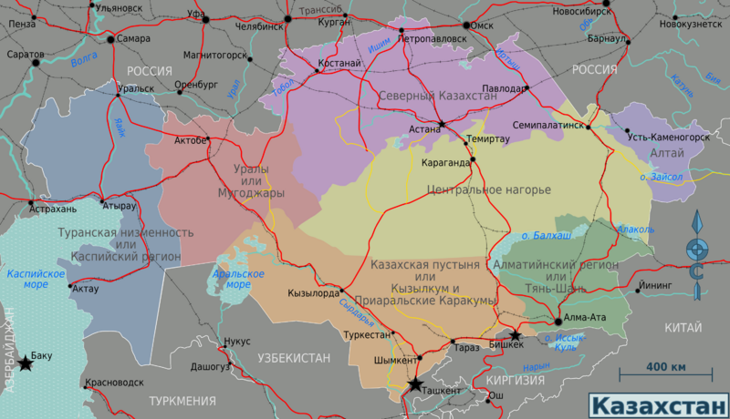 Казахстан схема карты