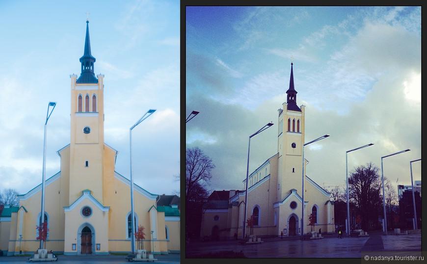 Милая желтенькая церквушка