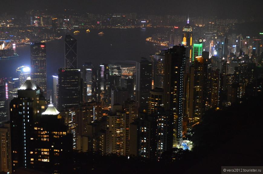 о. Гонконг. Вид с Victoria Peak на город