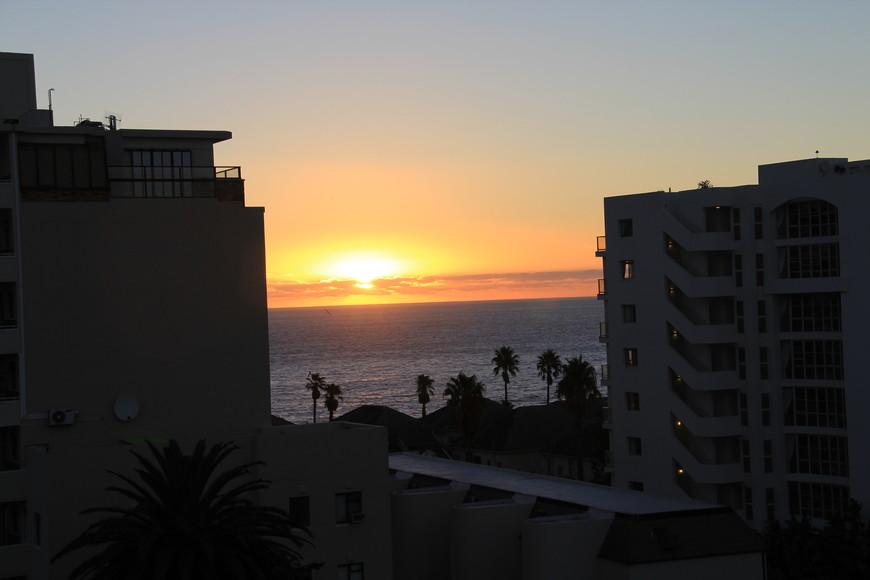 океан из окна гостиницы