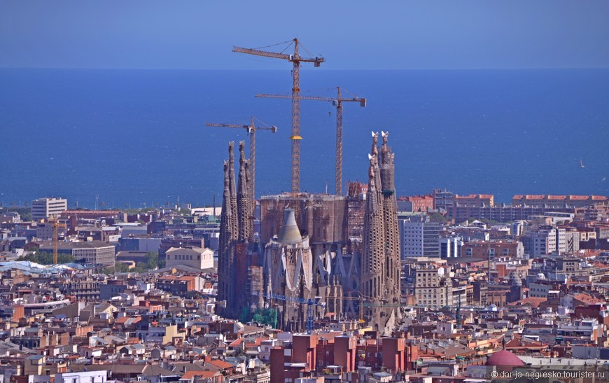 Sagrada Familia из Парка Гуэля