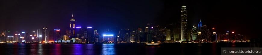 Общая панорама набережной острова Гонконг
