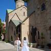 Русская Православная Церковь в г.Бари. После венчания, Юлия и Николай.