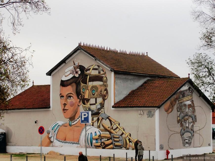 Граффити в порту.