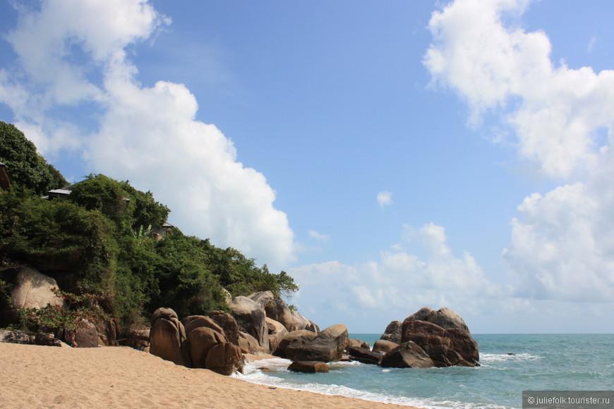 Небольшой пляж на восточном побережье Самуи