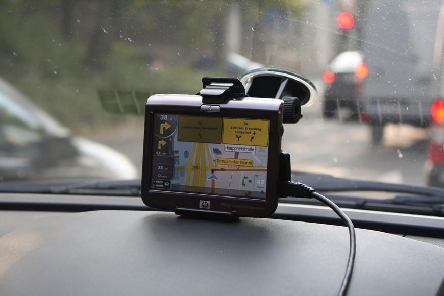 Навигатор изменил интерфейс при въезде в Германию