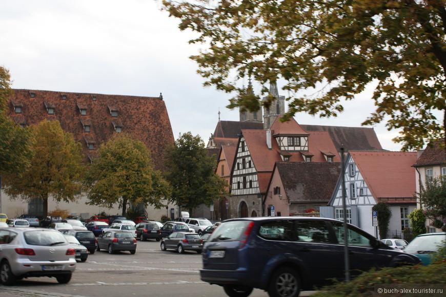 Посреди Ротенбурга об дер Тауберга, есть огромная парковка, так что не бойтесь ехать в центр.